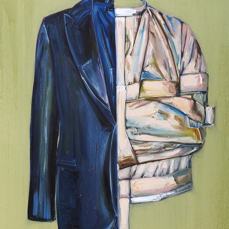 (Paintings)-Straight-jacket-series---Two-side-of-me---oil-on-linen-1225-x-920-mm