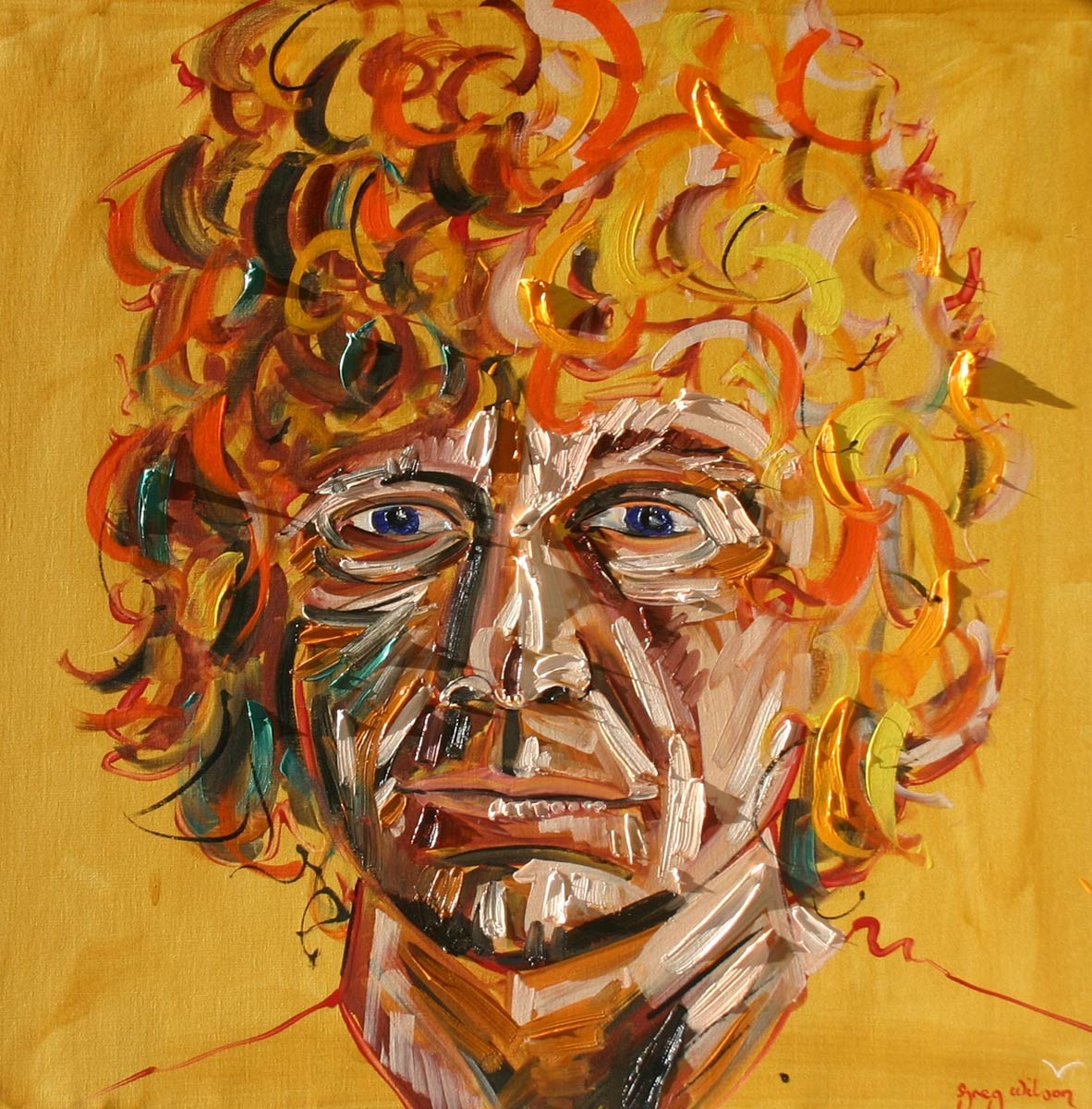 brett whiteley self portrait